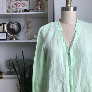 Eileen Fisher • Irish Linen Button Down Shirt